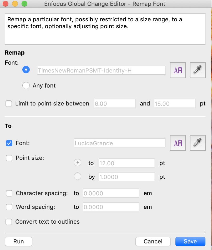 Enfocus PitStop Pro Remap Font Global Change