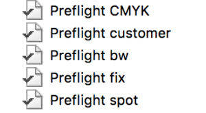 Enfocus Preflight Profiles