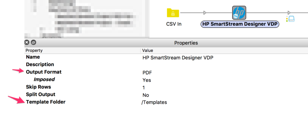 HP VDP properties in Enfocus Switch